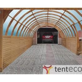 Навес для автомобиля арочный из дерева 3x6