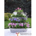 Вертикальная клумба цветник для сада, 4 яруса, высота 0,9 метра