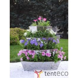 Вертикальная клумба цветник для сада, 4 ярусов, высота 0,9 метра